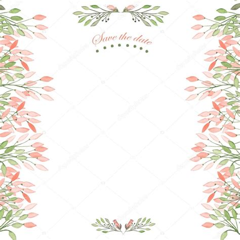 Floral Decorative frame border floral decorative ornament with watercolor