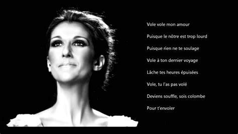 Celine Dion   Vole   With lyrics   YouTube