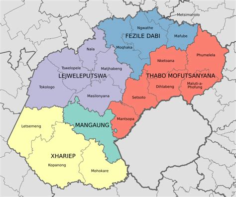 list of municipalities in the free state