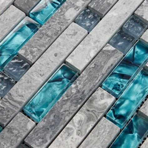 blue glass backsplash tile gray marble backsplash tiles sea glass blue wave patterns