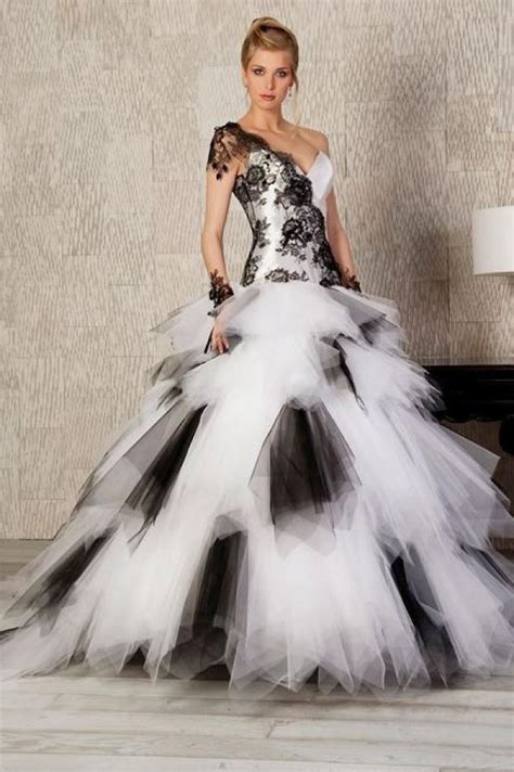 black and white wedding dresses have your dream wedding