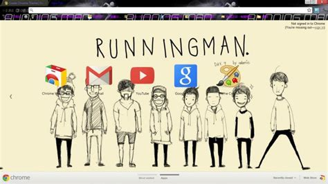 Theme Google Chrome Running Man | running man chrome theme themebeta