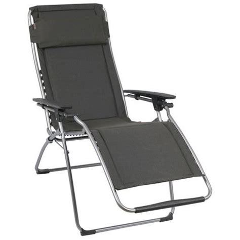 lafuma chaise longue fauteuil relax futura clippe ardoise lafuma achat