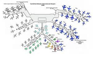 atlanta airport map us airways atl in 1980 the year skies