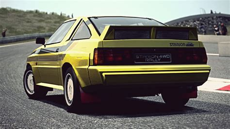 mitsubishi starion rally car gt6 mitsubishi starion 4wd rally car 84 exhaust