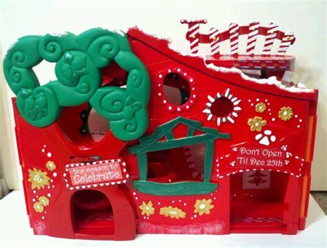 lps ebay house christmas peppermint house ooak custom littlest pet shop
