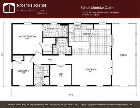 modular cabin floor plans schult modular cabin excelsior homes west inc