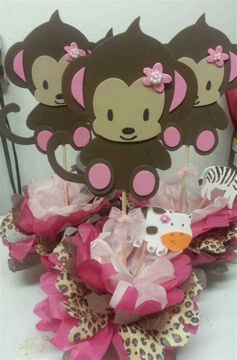 Monkey Baby Shower Themes by Baby Shower Theme Centerpieces Adrianas Creations