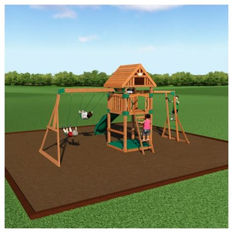 Backyard Discovery Extension Backyard Discovery Capitol Peak Wooden Swing Set 54403com