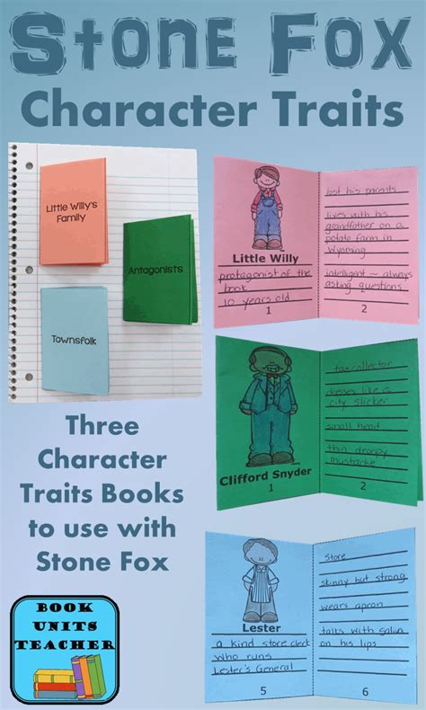 picture books character traits book units