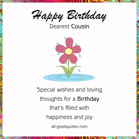 Cousin Birthday Quotes Happy Birthday Cousin Images Free Birthday Cards For