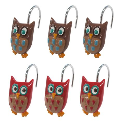 Owl Shower Curtain Hooks by Colormate Owl Garden Toothbrush Holder Home Bed Bath