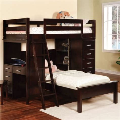 top wooden  shaped bunk beds  space saving features