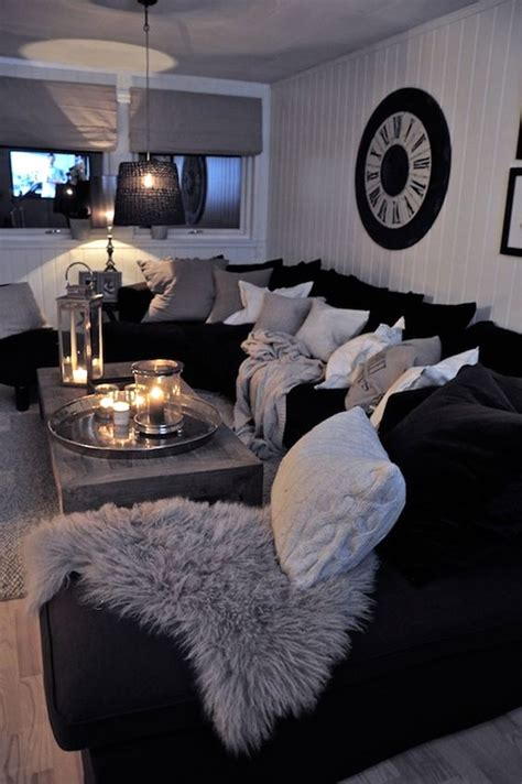 Black And Gray Living Room Ideas | 40 grey living room ideas to adapt in 2016 bored art