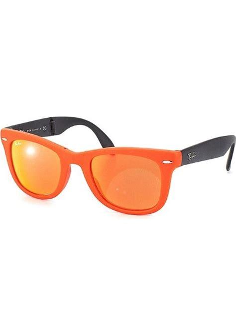 Rayban Elastis Lensa ban ban ban rb4105 folding wayfarer 601969 matte brown orange plastic sunglasses