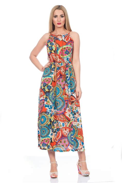 Midi Maxi Dress bright summer sun dress midi