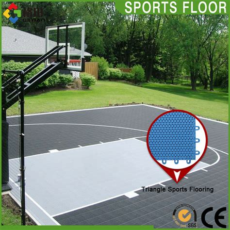 backyard basketball court flooring promotional top quality pp interlocking outdoor sports flooring synthetic basketball
