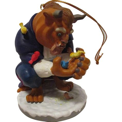 vintage disney the beast christmas ornament from atticangel on ruby lane