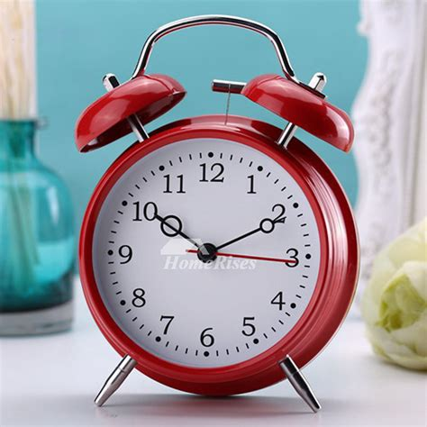 loud alarm clock blackredyellow metal painting battery operated
