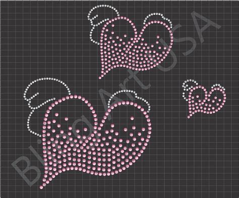 bling templates rhinestone template with wings