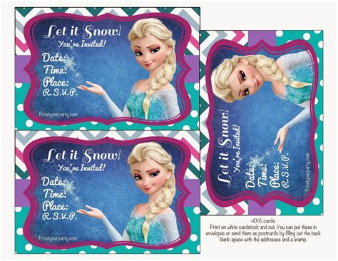 printable free frozen invitations frozen colored free printable party kit oh my fiesta