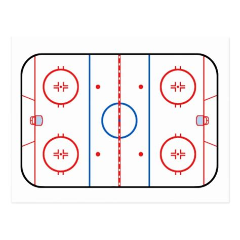 hockey rink diagrams rink diagram hockey design postcard zazzle