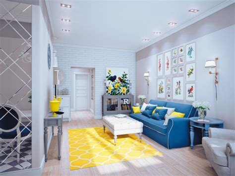 blue yellow living room blue and yellow home decor