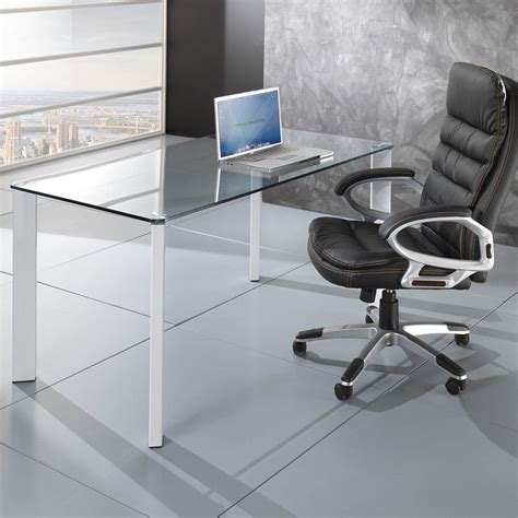 tavolo per ufficio tavolo scrivania roxanne da ufficio piano in vetro 140 x 80 cm