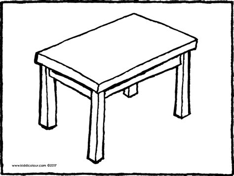 coloring table table coloring pages