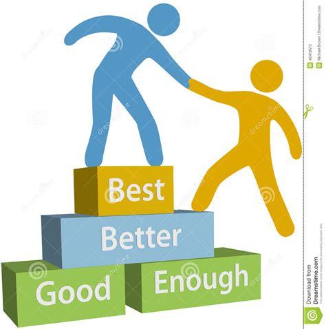 best better help better best achievement stock vector