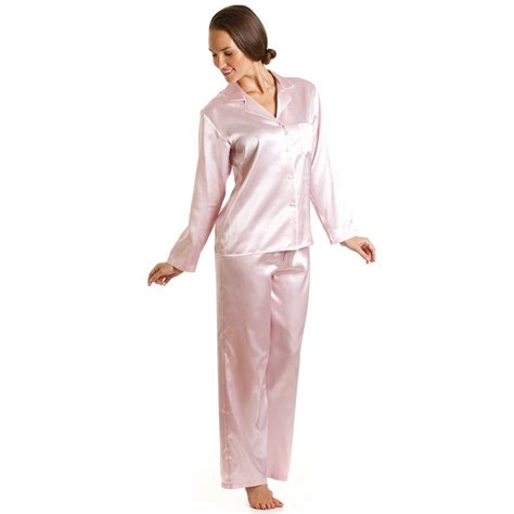 pink luxury luxury satin full length light pink pyjama set
