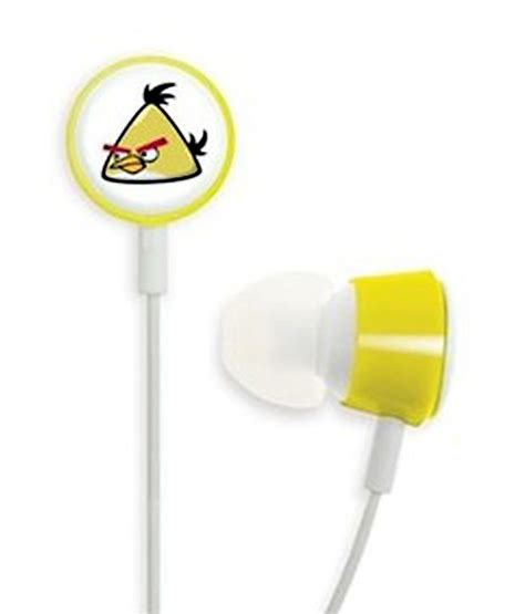 Headset Earphone Headphone Angry Bird An 40 buy angry birds hab006g in ear earphones yellow at best price in india snapdeal