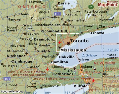 map of toronto canada and surrounding area reliable index image map of toronto canada and