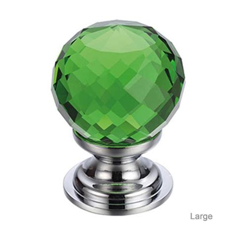 facetted green glass cabinet knob glass cabinet knobs