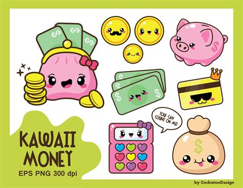 kawaii clipart 30 kawaii clipart money clipart budget clipart kawaii