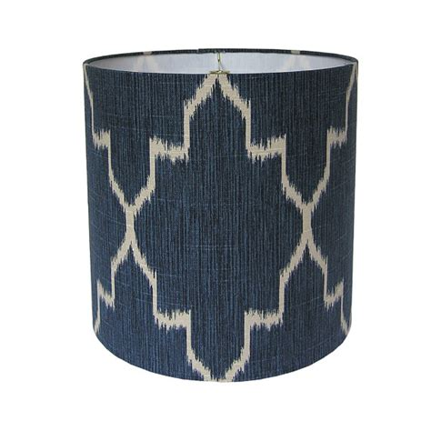Handmade Fabric Lshades - custom l shade ikat lshade fabric l shades navy