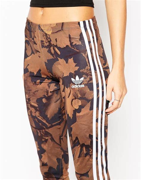 A34 Motif Adidas Legging lyst adidas in all camo leaf print with 3 stripes