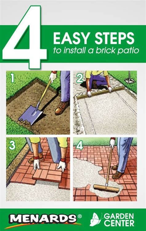 Menards Lawn And Garden by 4 Easy Steps To Install A Brick Patio From The Menards