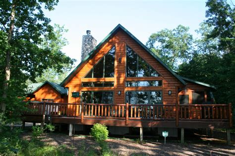Waterfront Log Cabins For Sale by Log Homes For Sale On Lake Petenwell Wisconsin