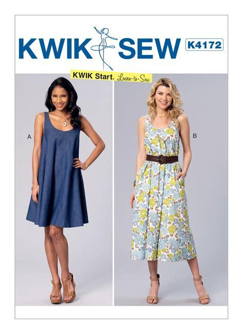 dress pattern kwik sew kwik sew 4172 misses sleeveless scoopneck tent dresses