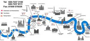 River Thames Outline by Maps Thames Luxury Charters