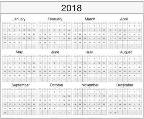 printable calendar 2018 microsoft office 2018 yearly monthly calendar template excel word