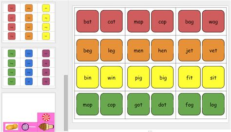 candyland cards template editable land cards learning with christine pinto