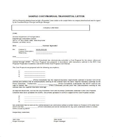 transmittal for collection template sample form biztree com