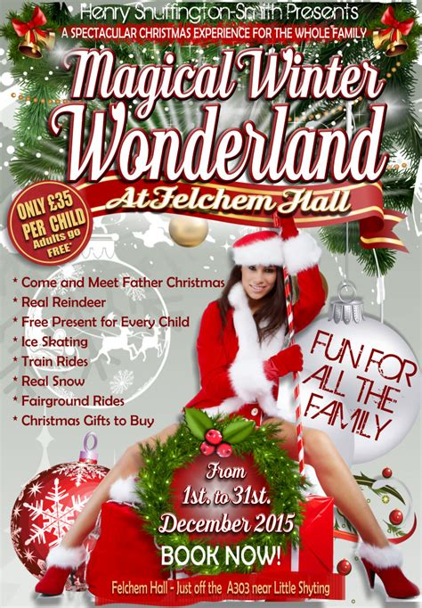 winter wonderland christmas poster festival collections