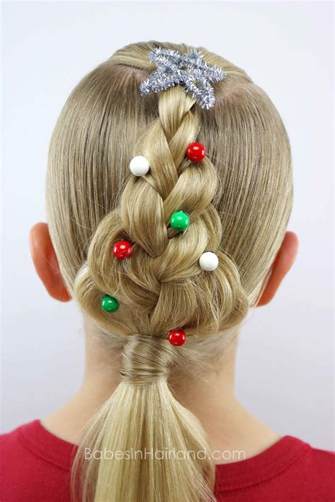 christmas tree hairstyle tree braid in hairland