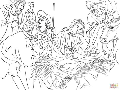 coloring page shepherds christmas adoration of the shepherds coloring page free printable