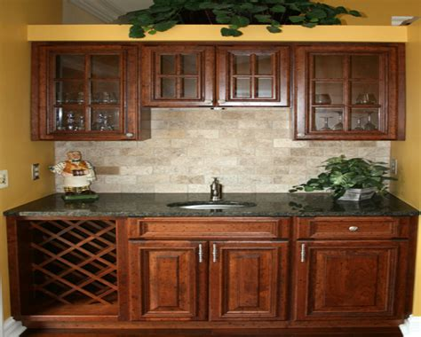 tile floor with maple cabinets kitchen backsplash ideas