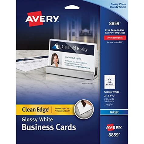 Avery Clean Edge Business Cards Template by Ave8859 Avery Two Sided Clean Edge Business Cards