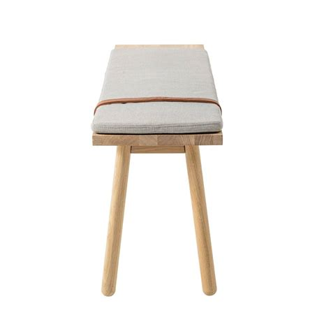 wooden bench with cushion bloomingville straight wooden bench with cushion living